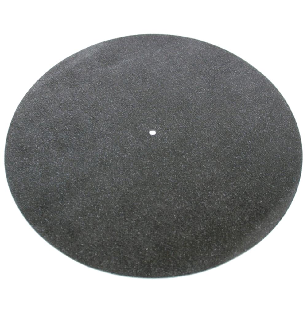 Tonar Black leather turntable mat
