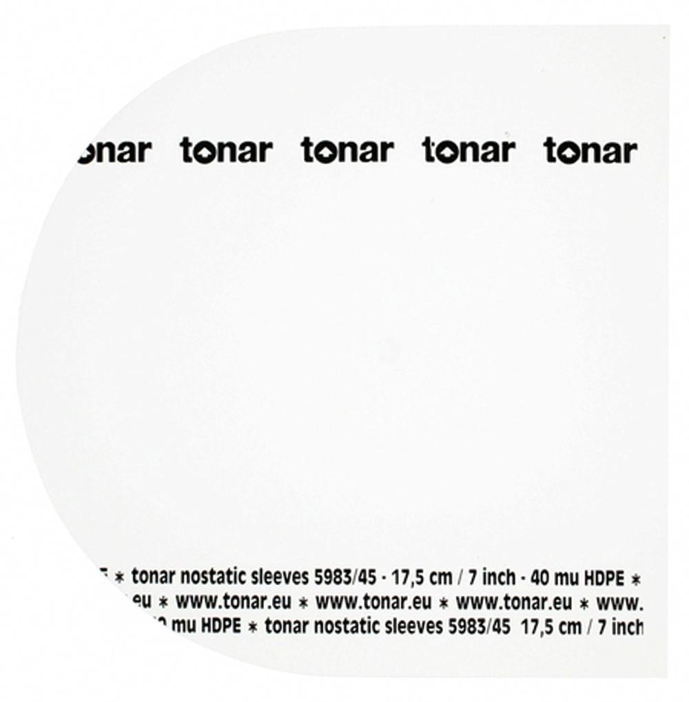 tonar nostatic sleeves for 7 inch 17 8 cm 45 rpm records. Black Bedroom Furniture Sets. Home Design Ideas